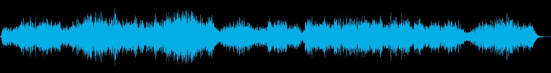 静かな灯台をイメージしたヒーリングBGMの再生済みの波形