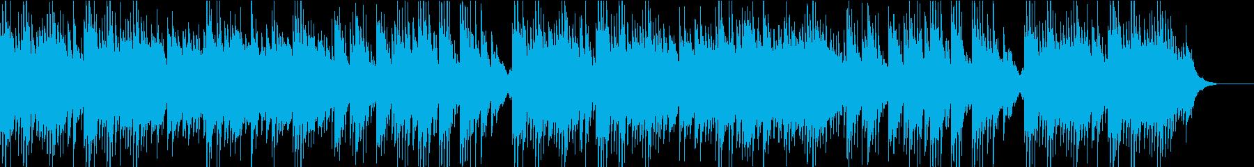 和風テイストで穏やかなBGMの再生済みの波形