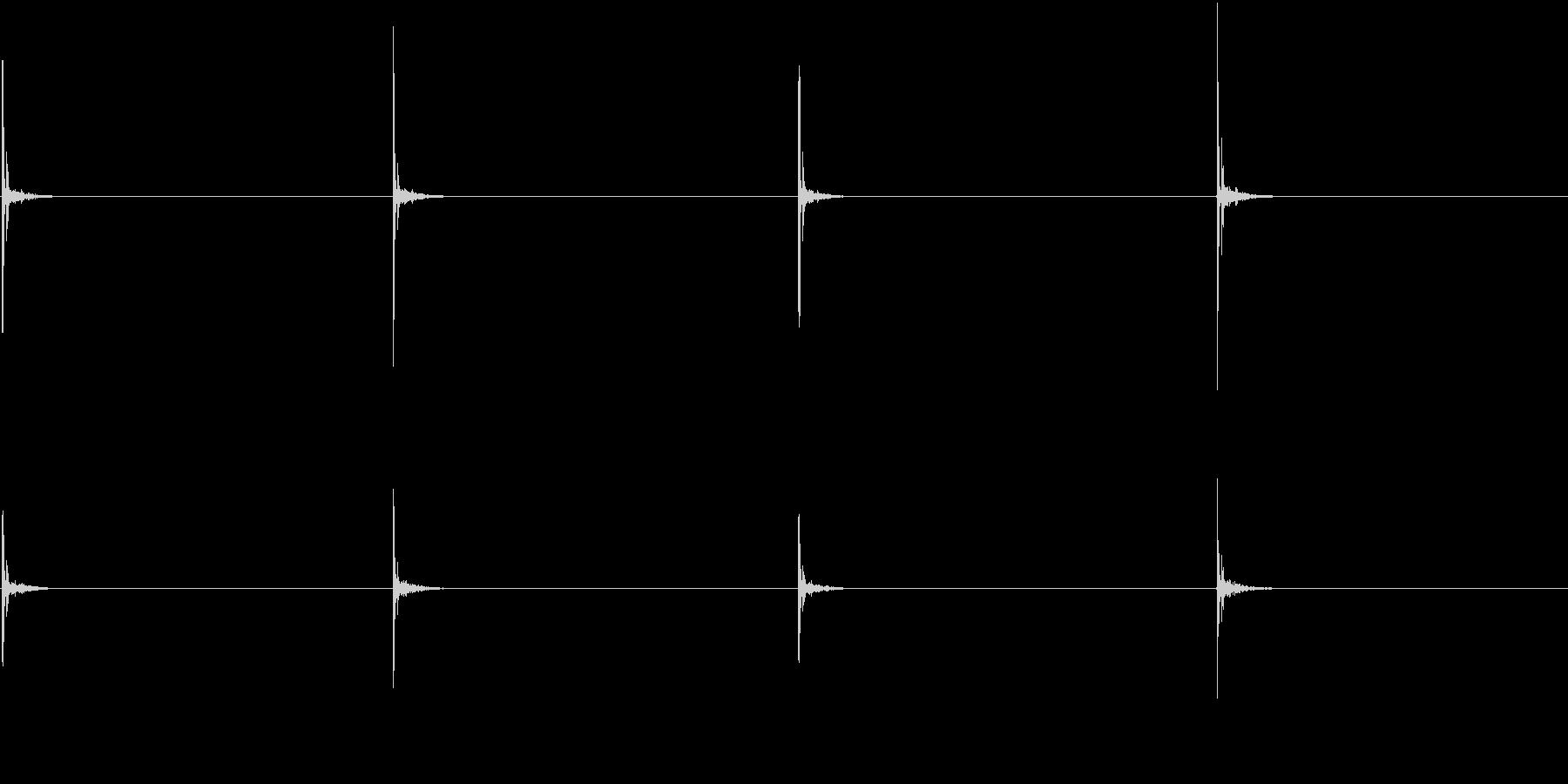 【生録音】お箸の音 5 カツカツと鳴らすの未再生の波形