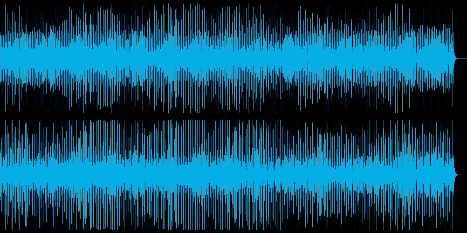 リズミカルなピアノインストルメントの再生済みの波形
