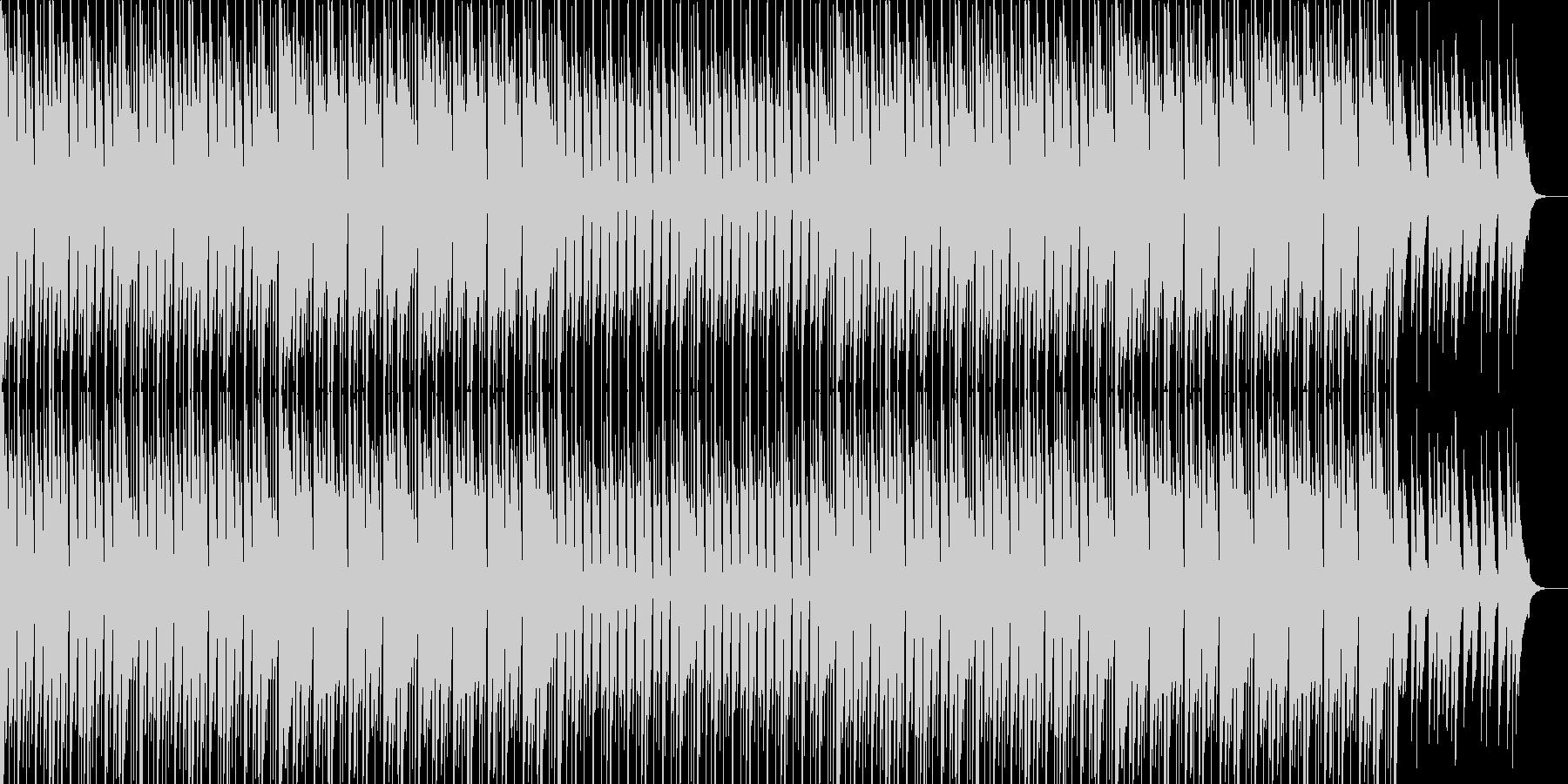 跳ねるマリンバのリズムの明るいポップスの未再生の波形