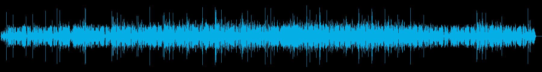 クラリネットの楽しくて陽気な雰囲気の楽曲の再生済みの波形
