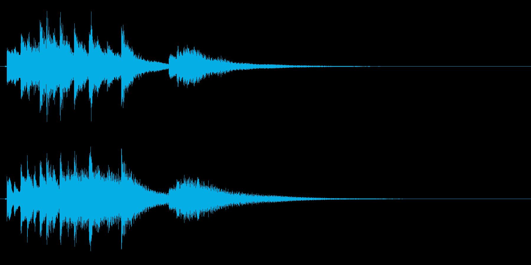 琴のフレーズ4☆調律1☆リバーブ有の再生済みの波形