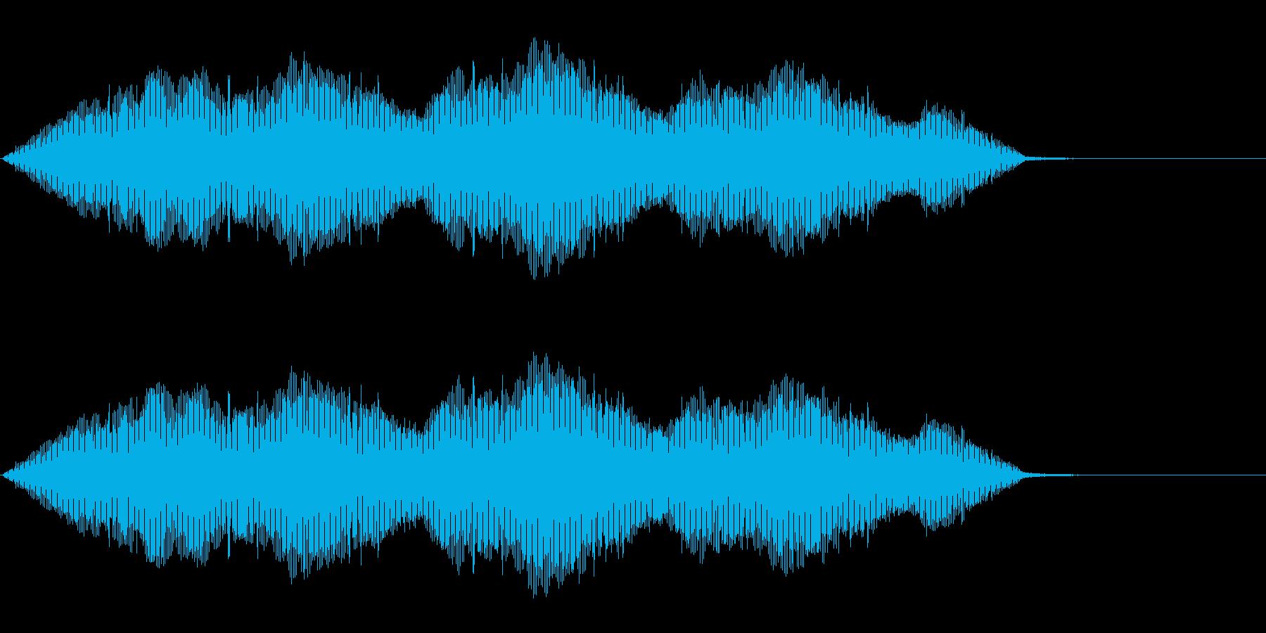 ジーの再生済みの波形