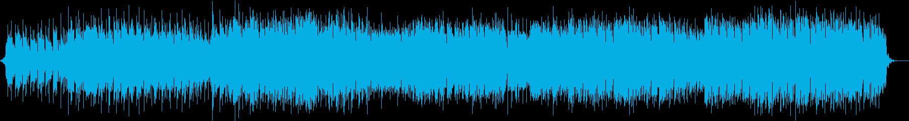 テクノポップ調の軽快で明るい楽曲の再生済みの波形
