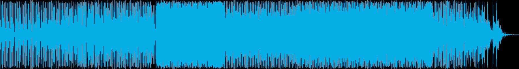 爽やかな印象のテクノ曲の再生済みの波形