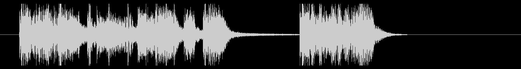 ヘヴィーでファンクなジングル[微長]の未再生の波形