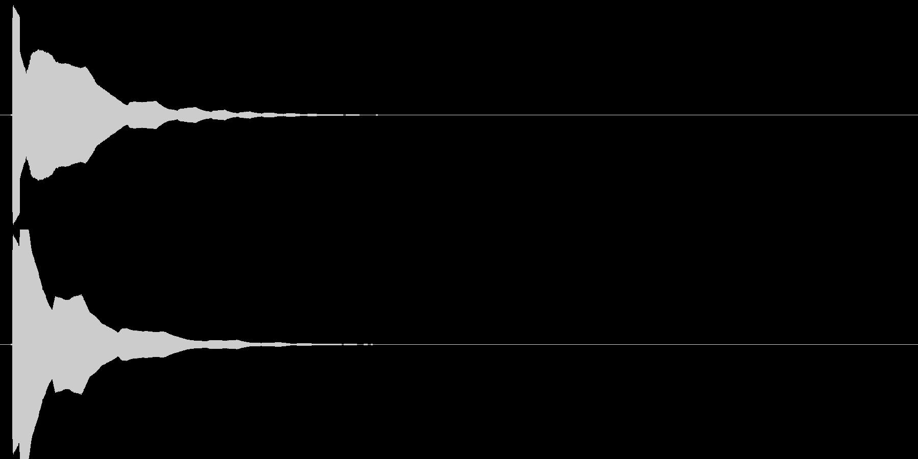 ポイーン(ジャンプ音、アクション、低め)の未再生の波形