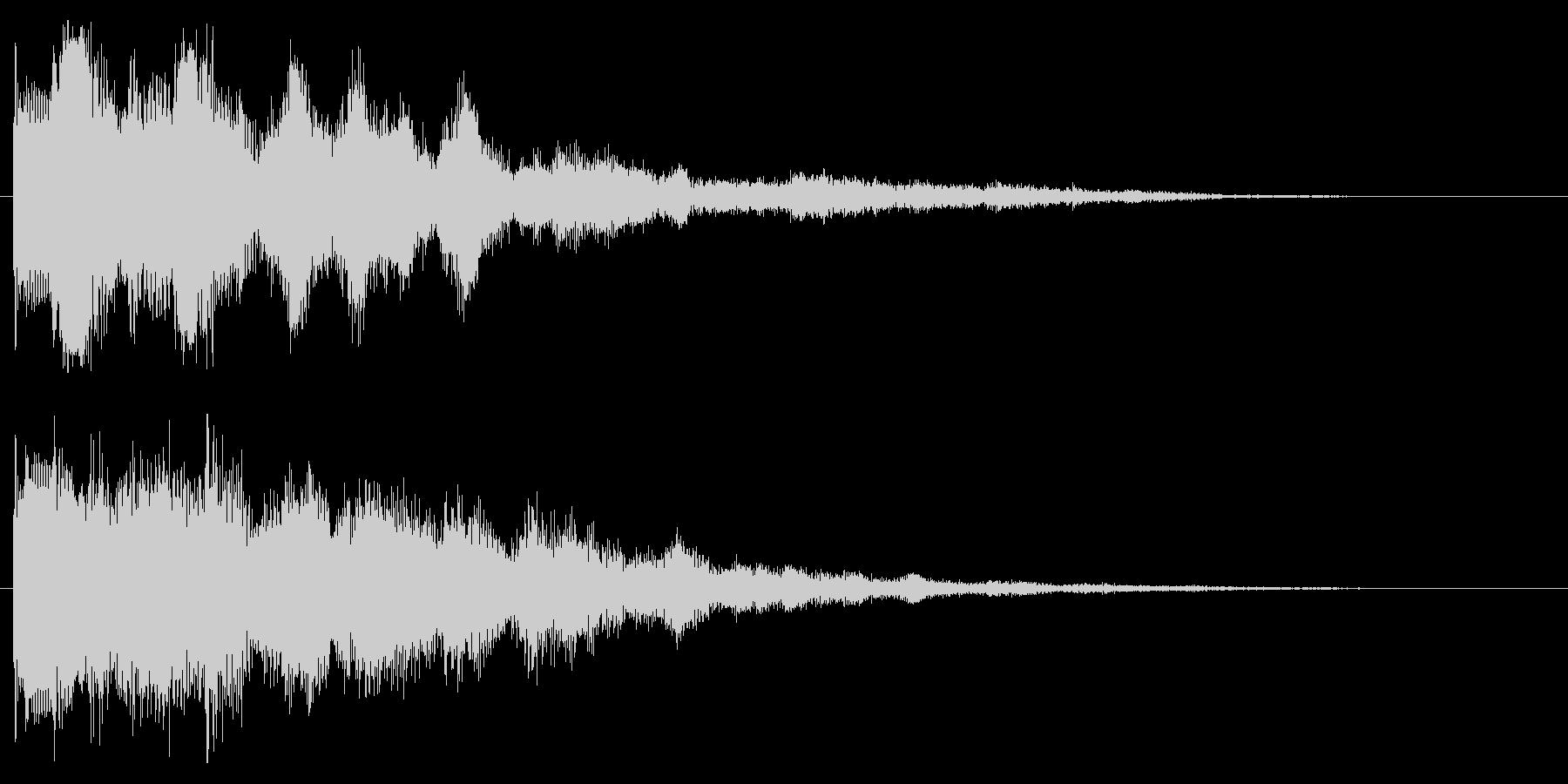 ファンタジックなセレクト音 決定音 開始の未再生の波形
