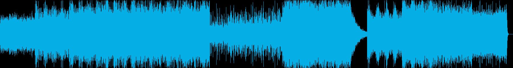 星の一生をイメージしたBGMの再生済みの波形