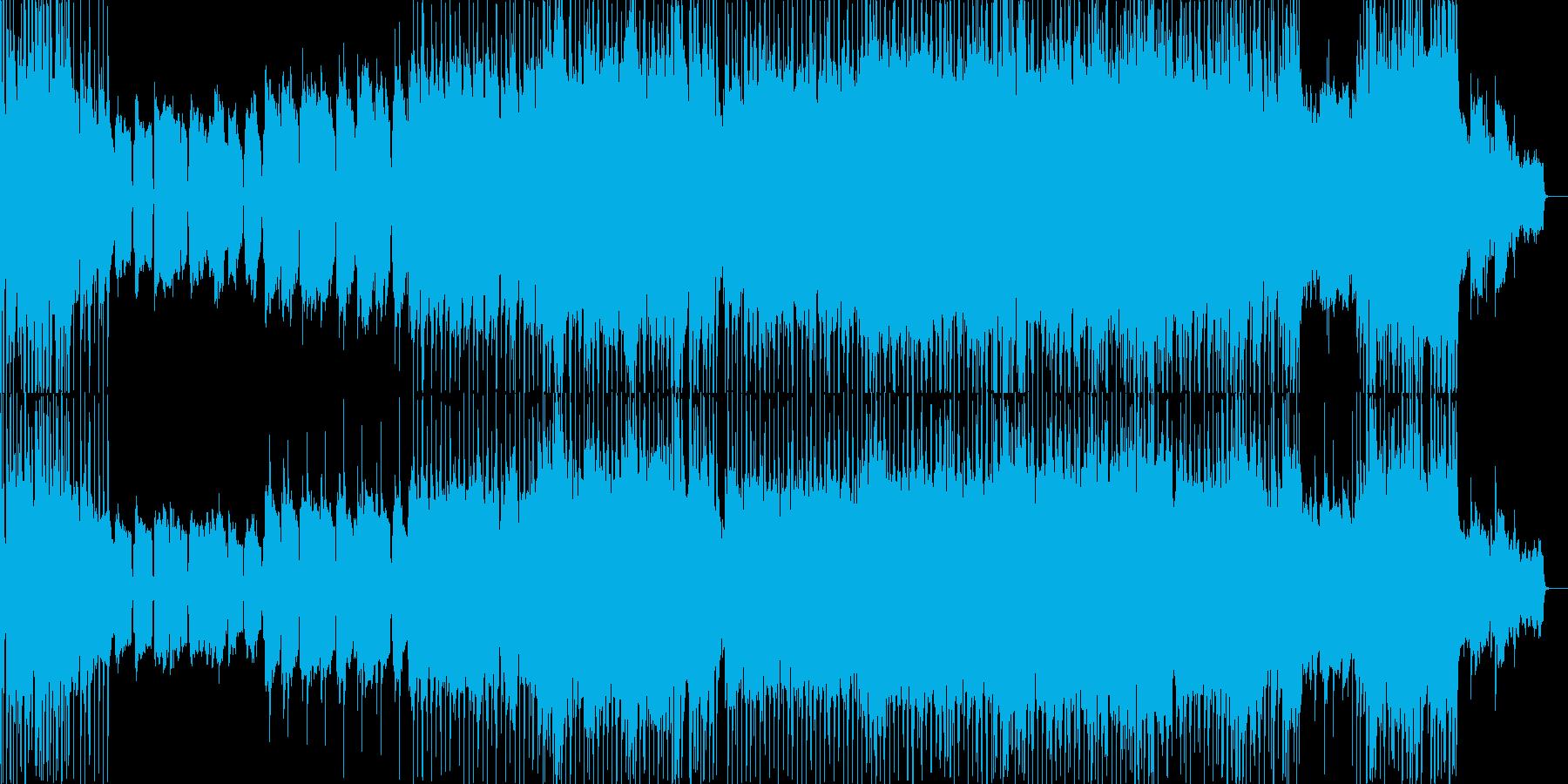ゆるやかメロディのバラードの再生済みの波形