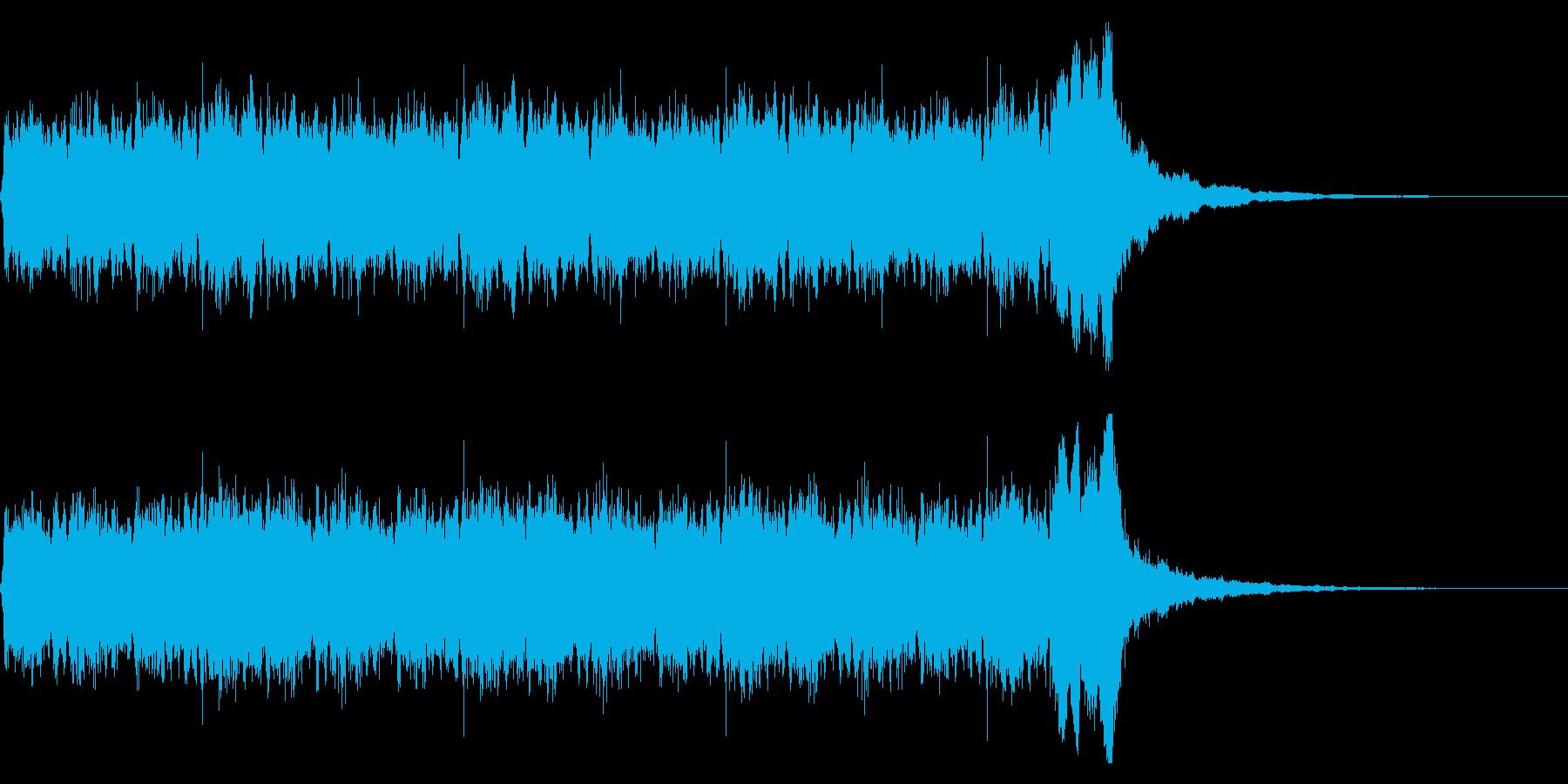 壮大な雰囲気のパイプオルガンとコーラスの再生済みの波形