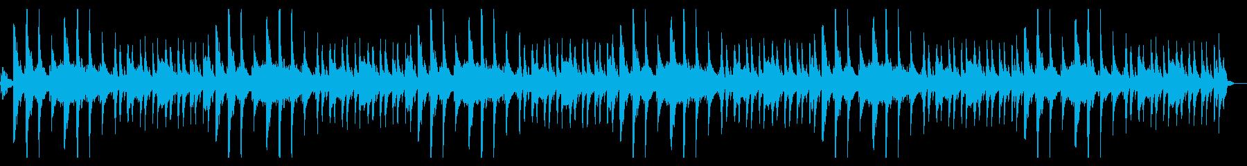 青い海のアンビエントの再生済みの波形