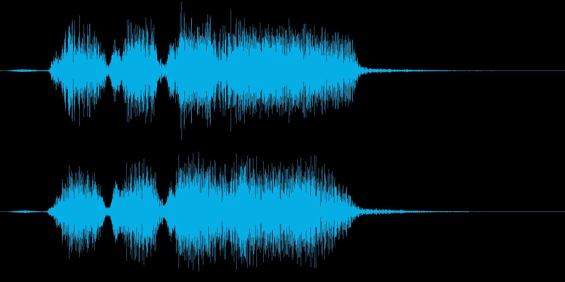 Youtubeジングル【パターンA】の再生済みの波形