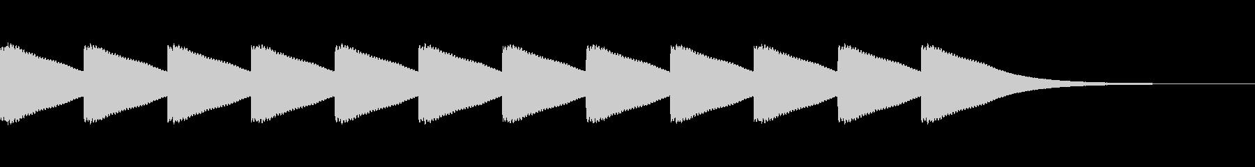 ボーンボーン...。時計の鐘B(高・長)の未再生の波形