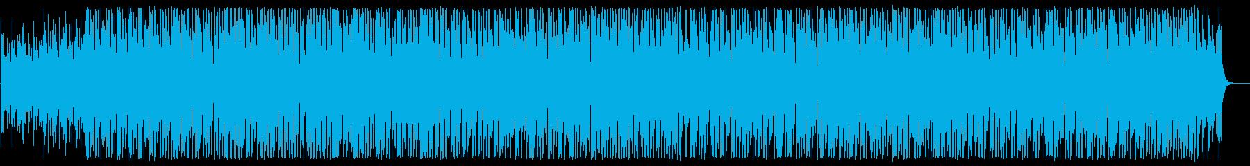 ピアノとシーケンサーのテクノポップの再生済みの波形