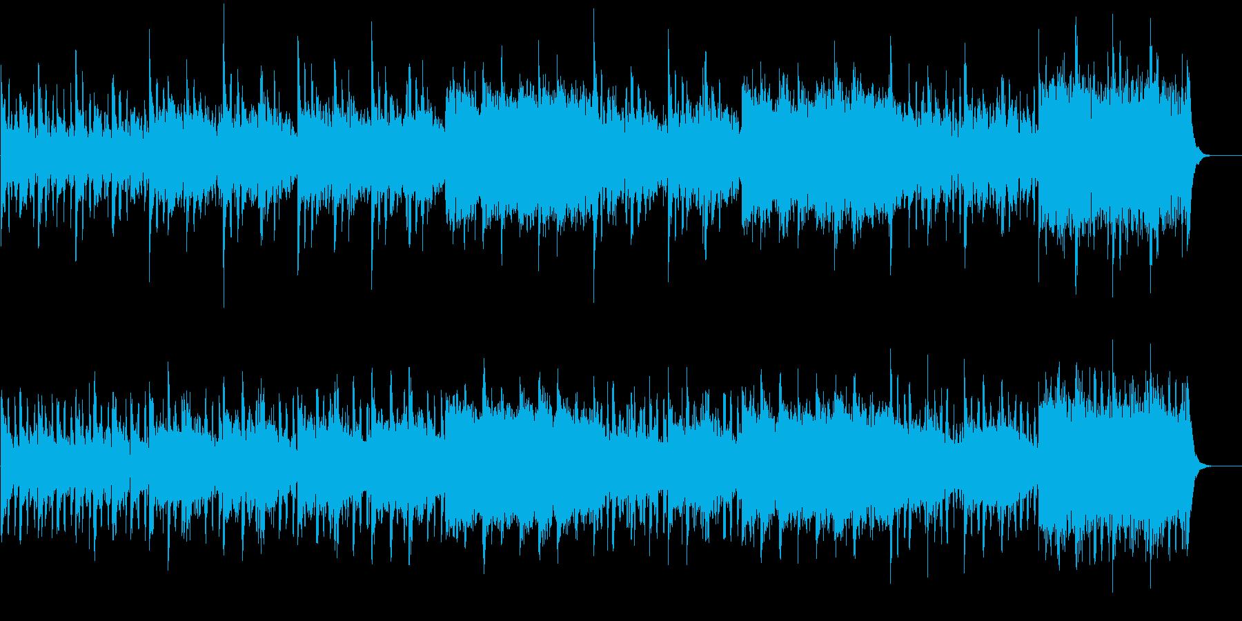 シンセサイザー、ピアノ、ベース、パ...の再生済みの波形