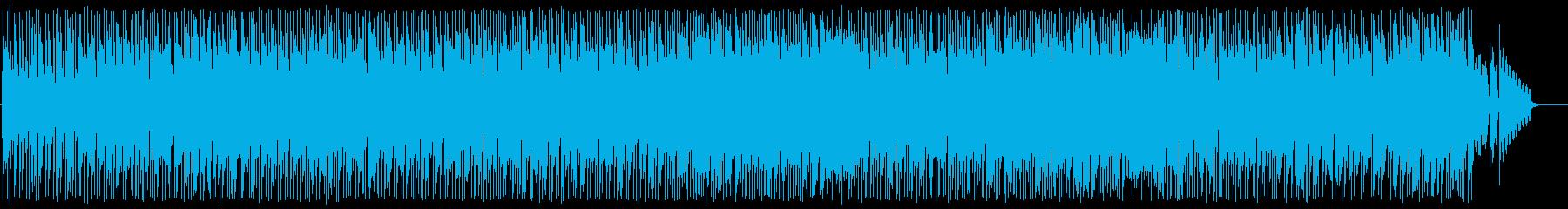 お洒落でスピード感あるメロディーの再生済みの波形