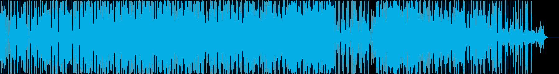 ミドルテンポでファンク雰囲気の楽曲の再生済みの波形