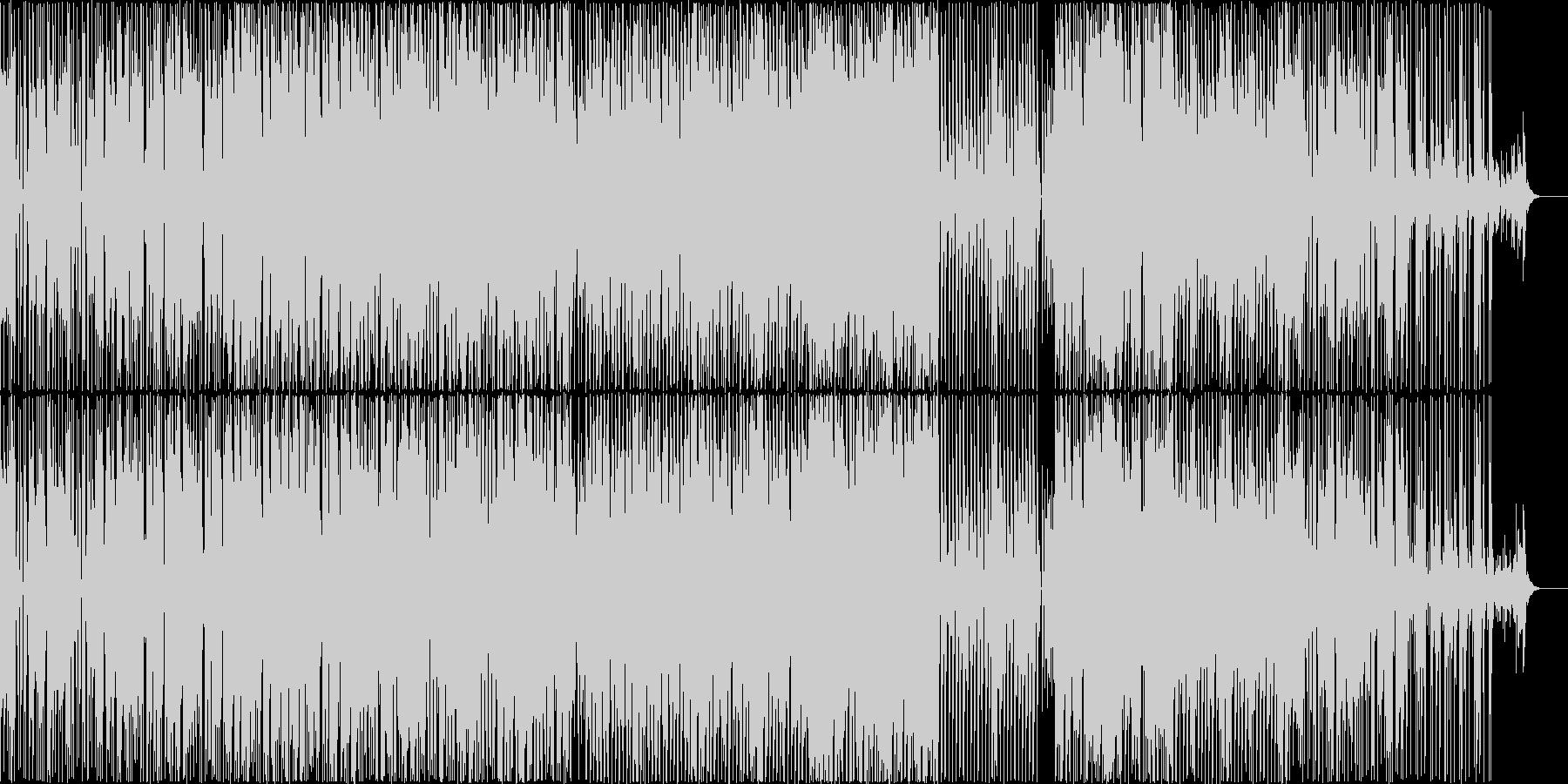 ミドルテンポでファンク雰囲気の楽曲の未再生の波形