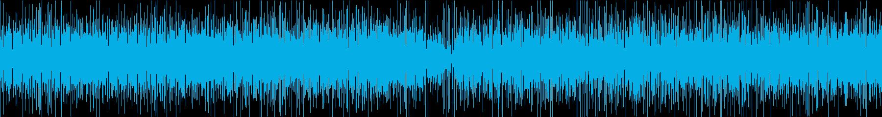 激しいスラップベースのアップテンポロックの再生済みの波形
