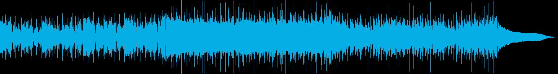 ほのぼのした夏のCM用生演奏ウクレレ曲の再生済みの波形