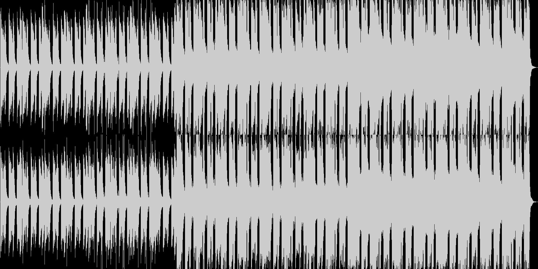 静かで力強いピアノが中心のバンドサウンドの未再生の波形