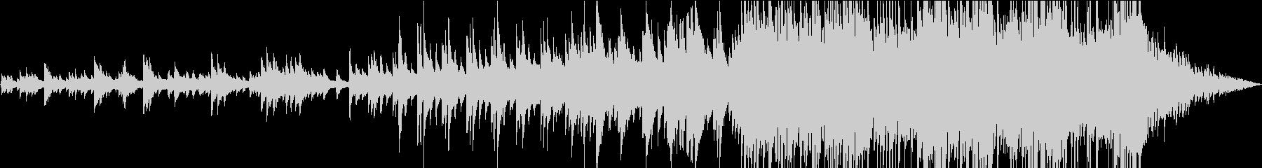 ピアノの前奏から盛り上がる曲。の未再生の波形