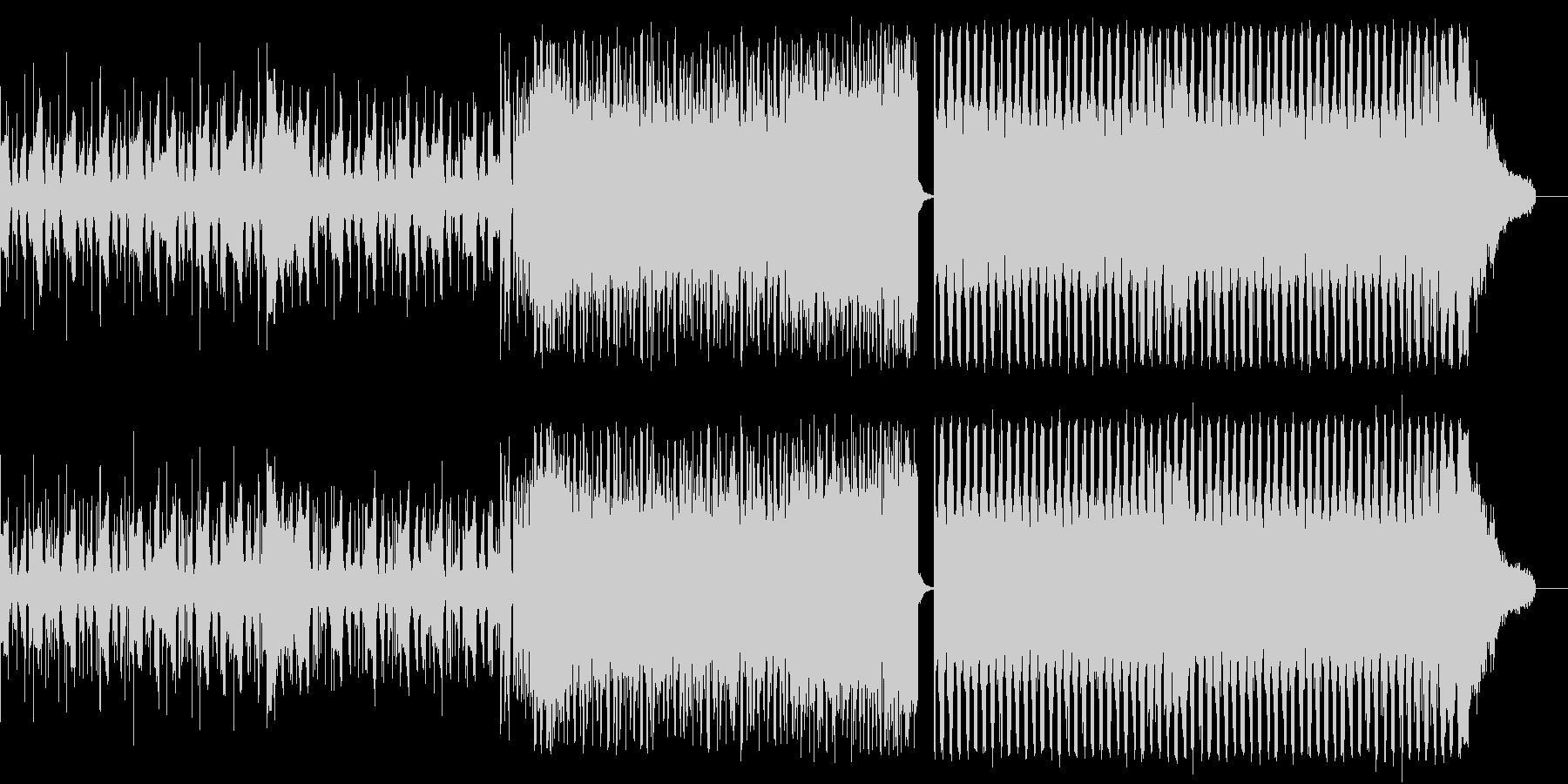 EDM オープニング 夜明け ランニングの未再生の波形