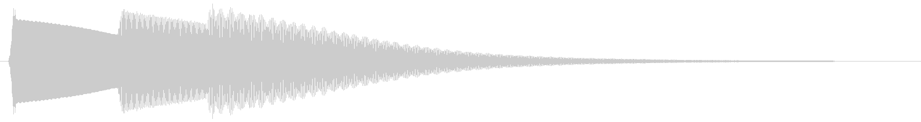 ピロリン(魔法にかかる音)の未再生の波形
