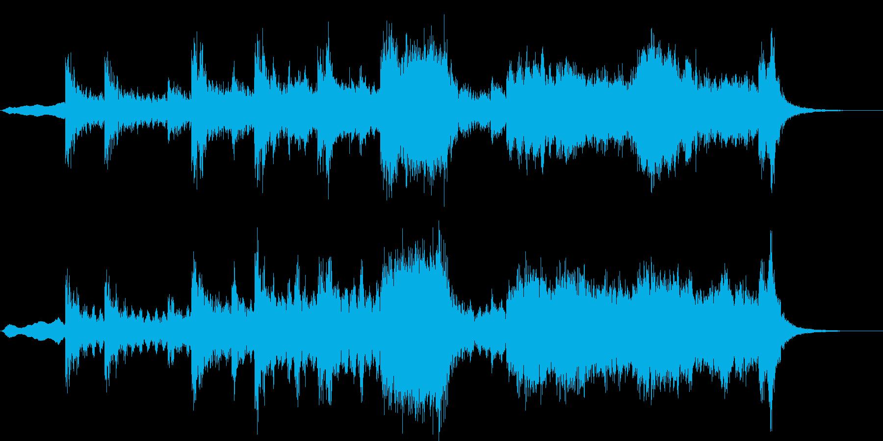 ピンチ、バトル、オーケストラジングルの再生済みの波形