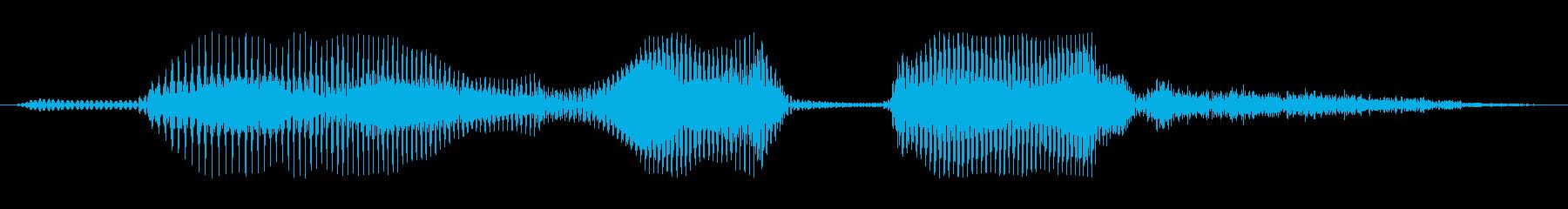 電話ですの再生済みの波形