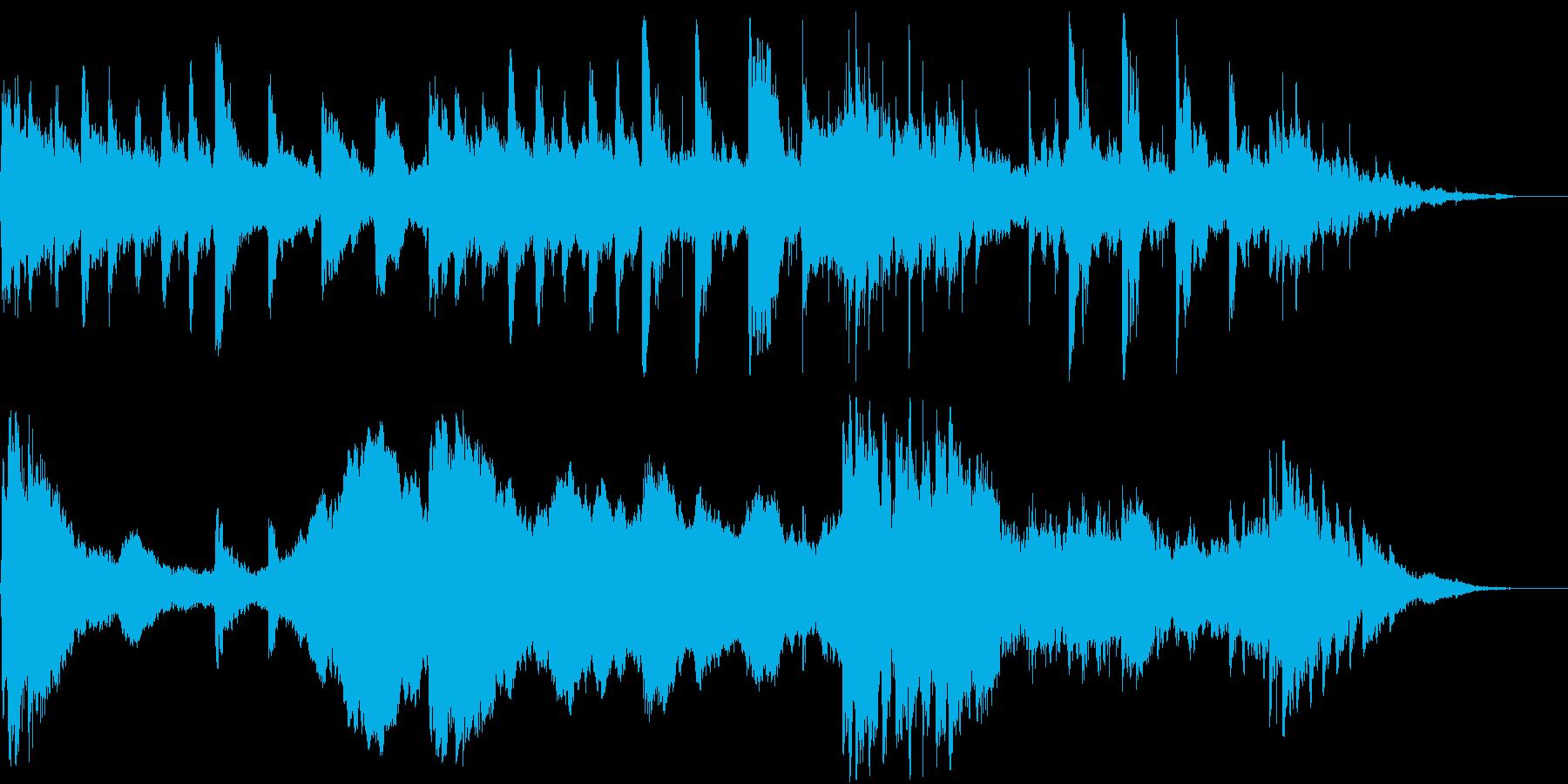 朝方の京都や社寺などに合うインストの再生済みの波形