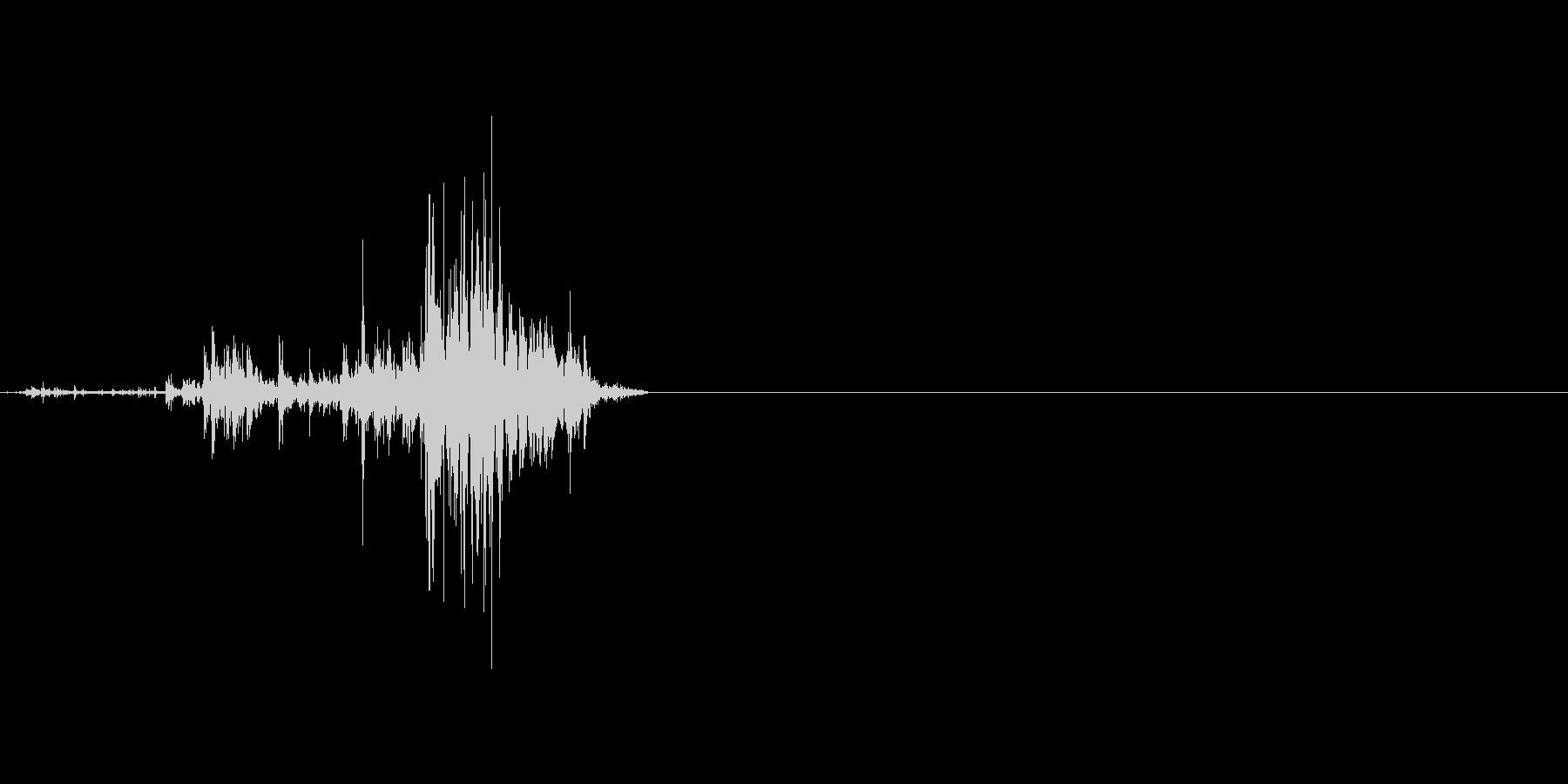 ダンボールを破る音。ビリッの未再生の波形