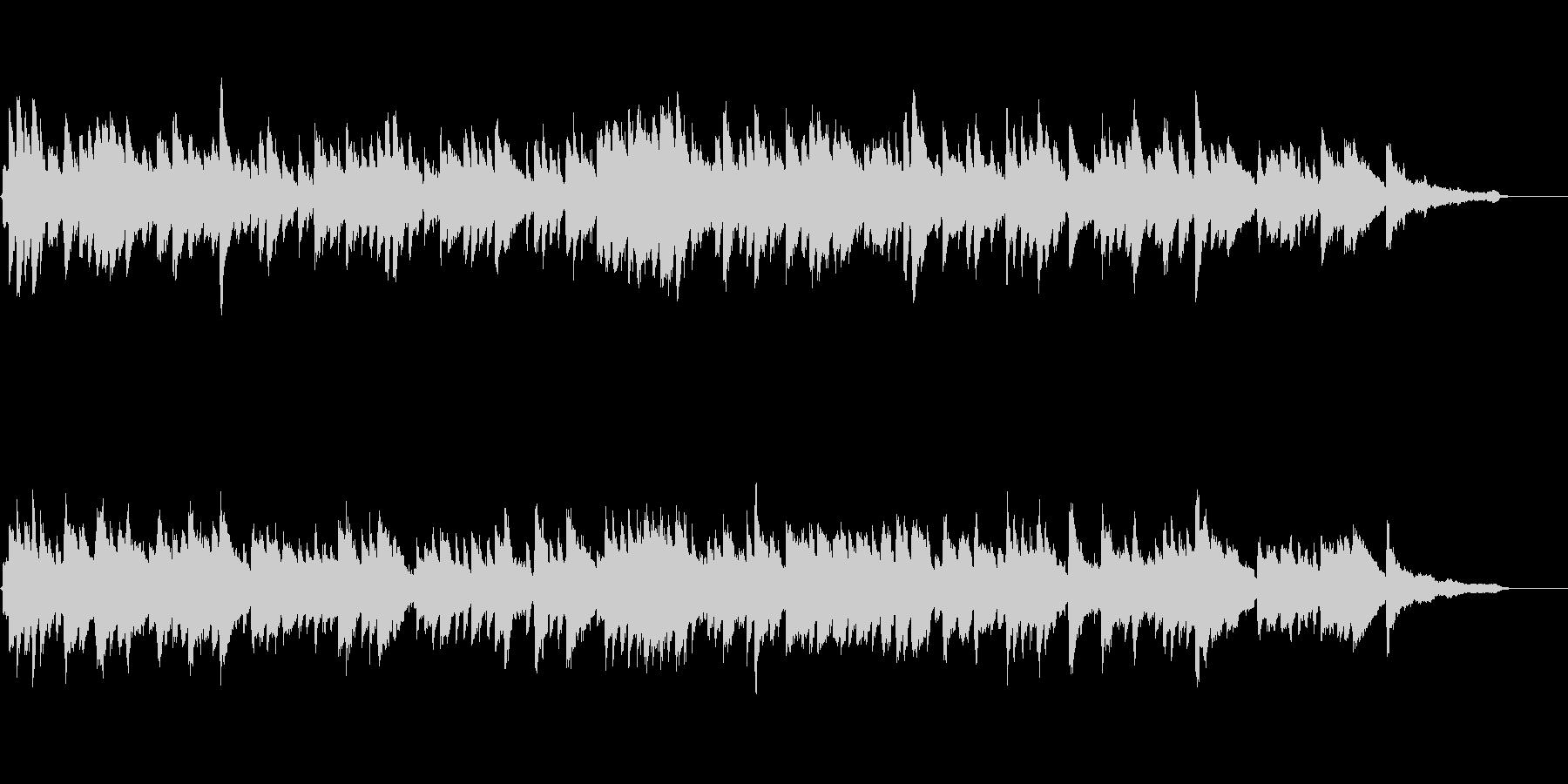 ピアノストリングスのドラマチックバラードの未再生の波形