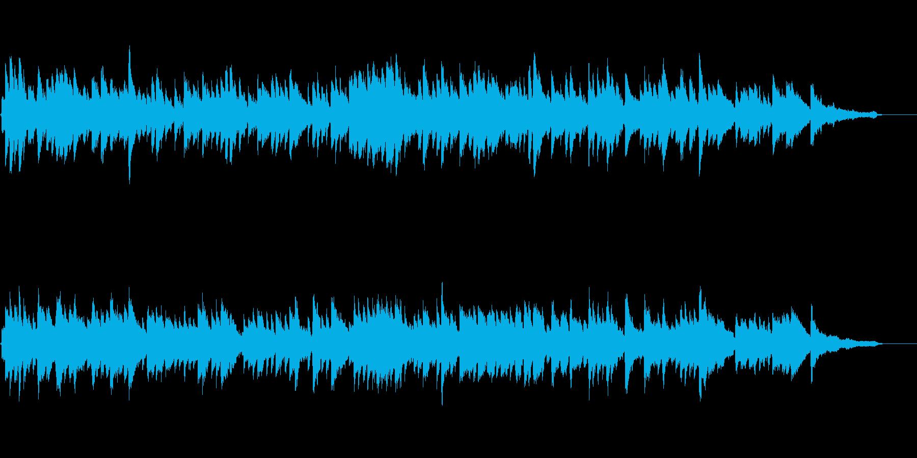 ピアノストリングスのドラマチックバラードの再生済みの波形