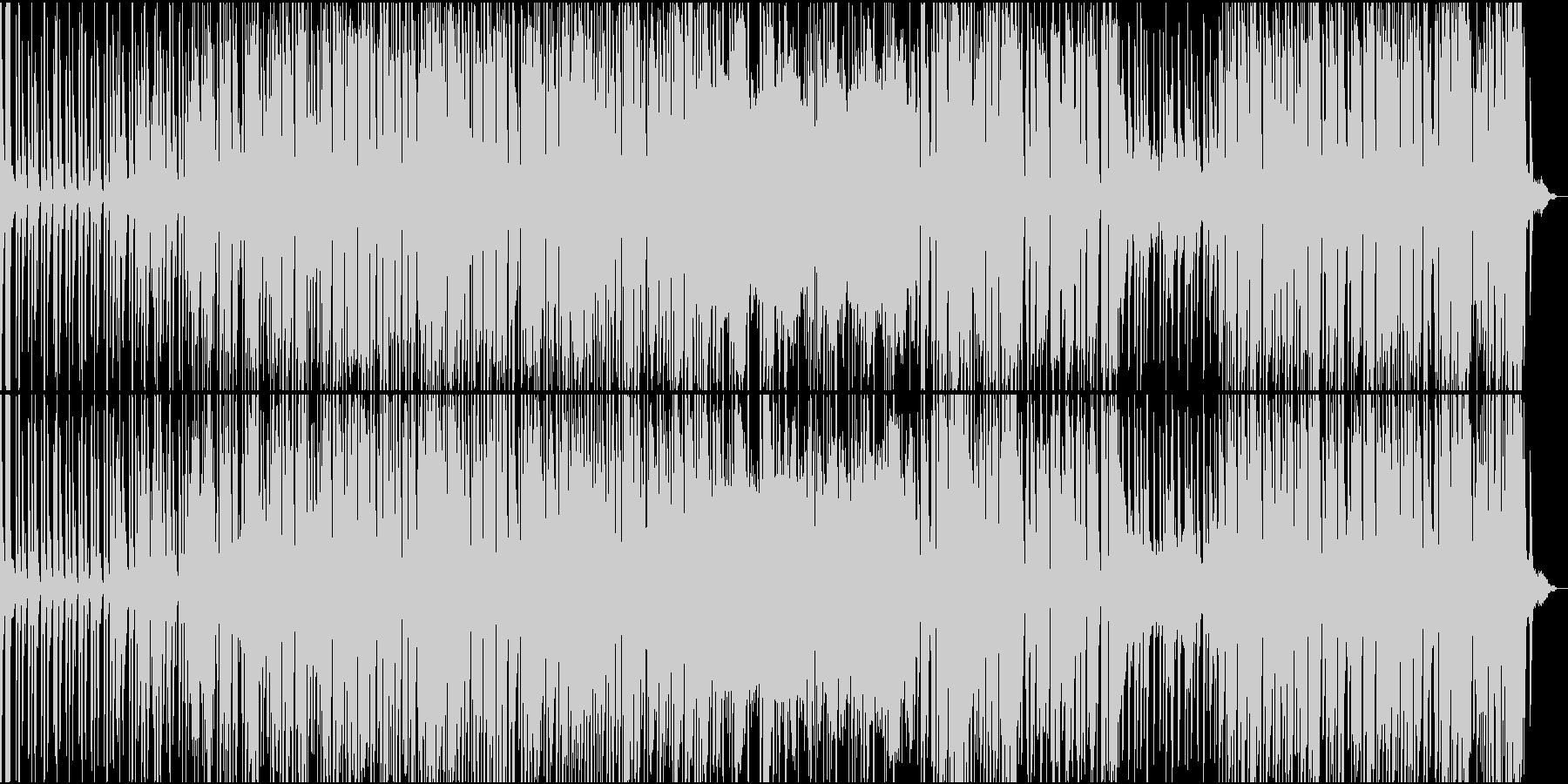 シンプルで流れるように穏やかなレゲエの未再生の波形