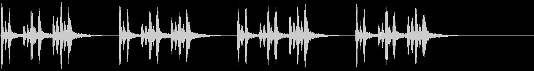 兵隊出動のトランペットファンファーレの未再生の波形