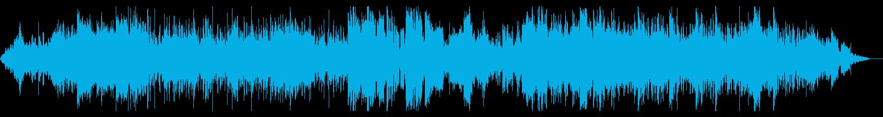 グリッジの効いたサスペンシブなビートの再生済みの波形