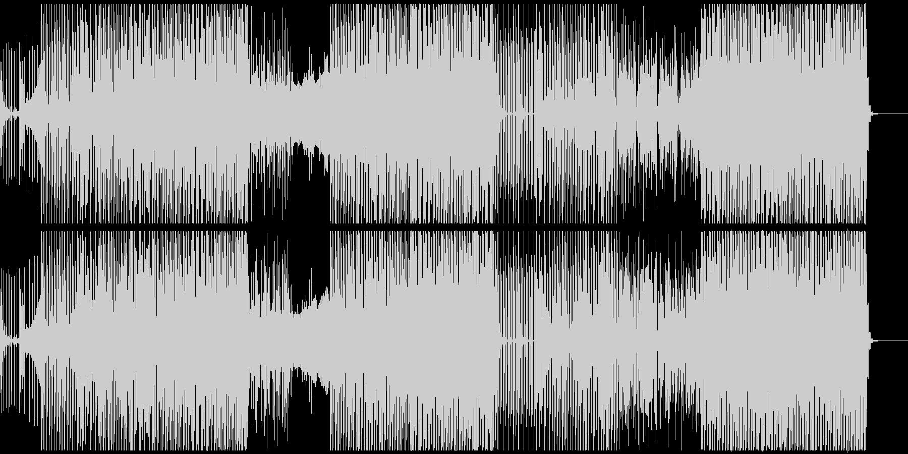 ノリが良いトライバル系ハウスミュージックの未再生の波形