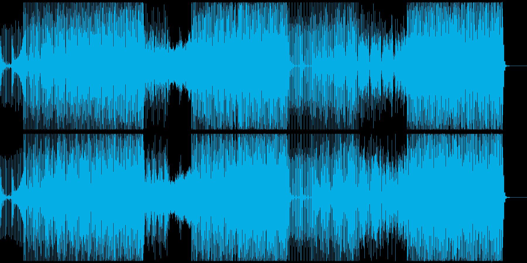 ノリが良いトライバル系ハウスミュージックの再生済みの波形