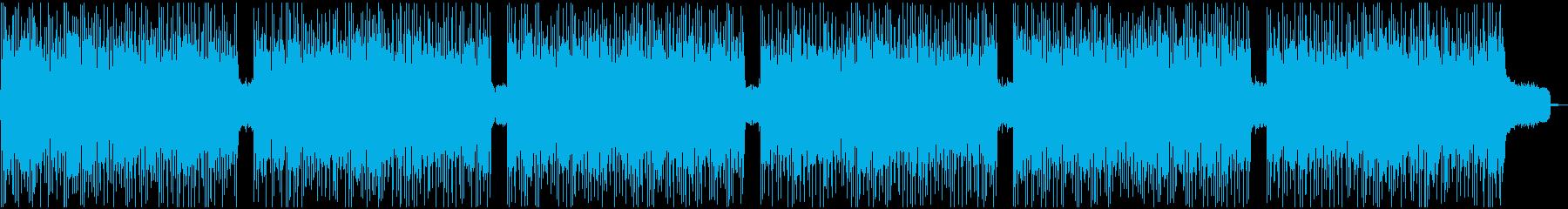 激しい戦闘ゲームに合う重低音ハードロックの再生済みの波形