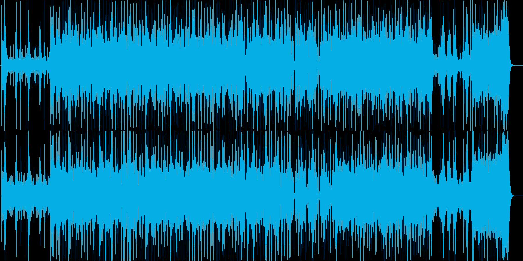 激しい嵐を起こす印象のテクノポップの再生済みの波形