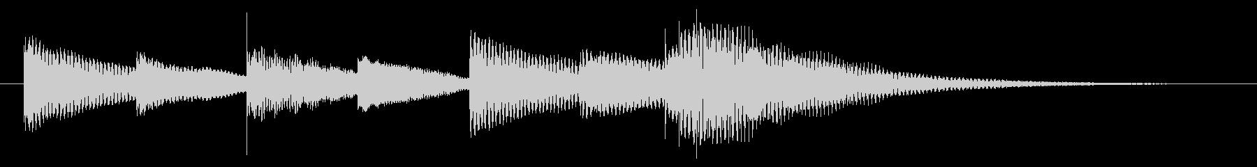 マリンバによる少しコミカルなジングルの未再生の波形