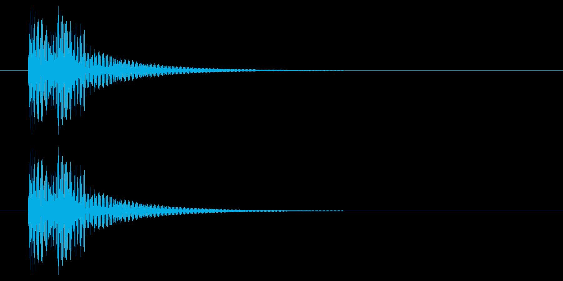 どどん!【日本の太鼓・二連打】の再生済みの波形