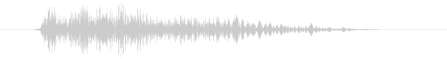 シューティングのショット音 5段階の3の未再生の波形