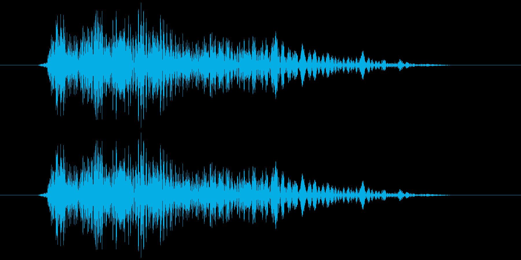 シューティングのショット音 5段階の3の再生済みの波形