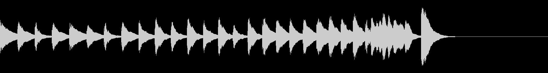 ふしぎなフシギな感じの木琴の8秒の曲の未再生の波形
