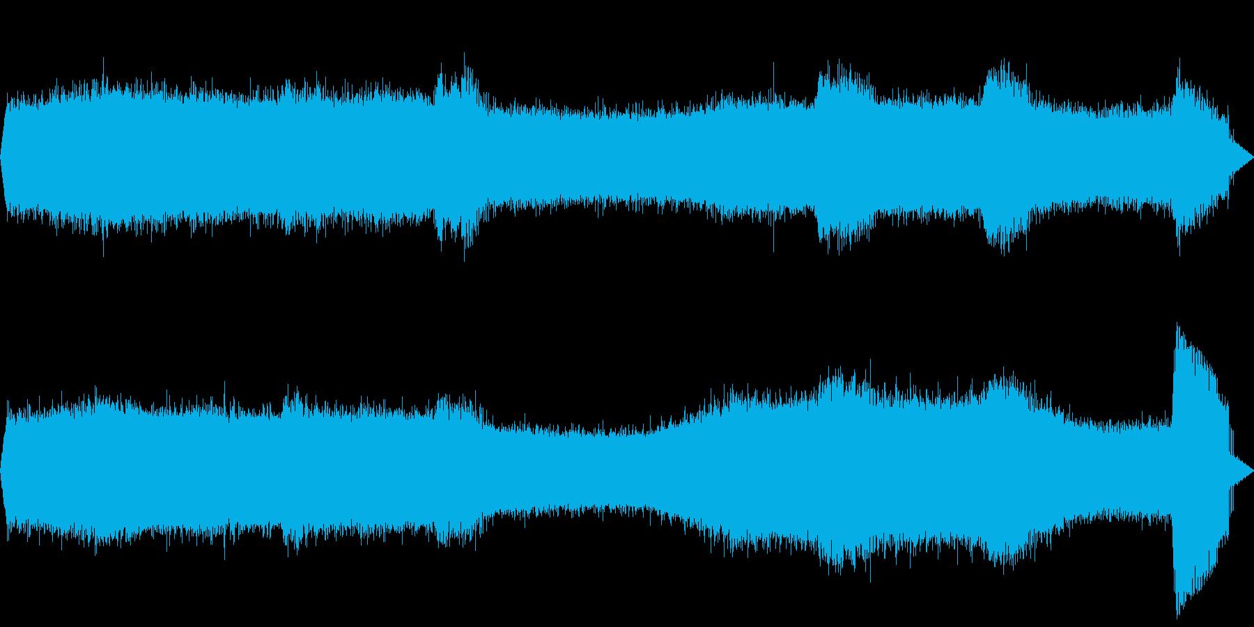 【自然音】蝉の鳴き声01の再生済みの波形