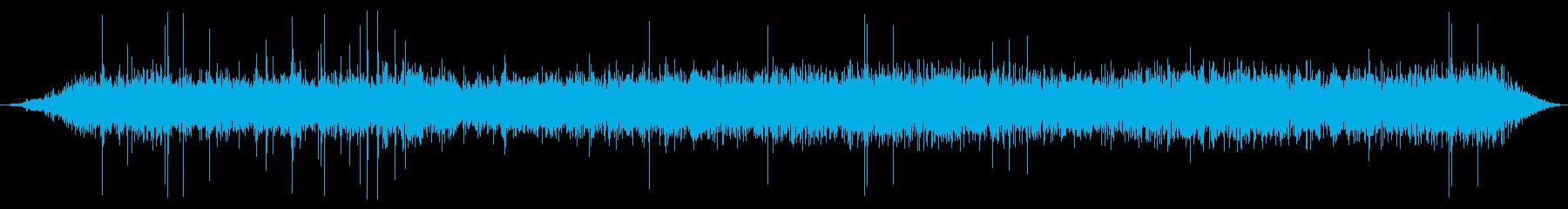 パチパチ火、シューとパチパチの再生済みの波形